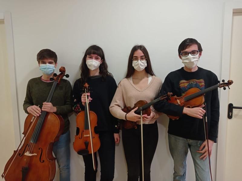 Miguel Rodríguez i Cecilia Novella, violins; Claudia Cañaveras, viola i Yoel Miñana, violoncel. Concerts de primavera