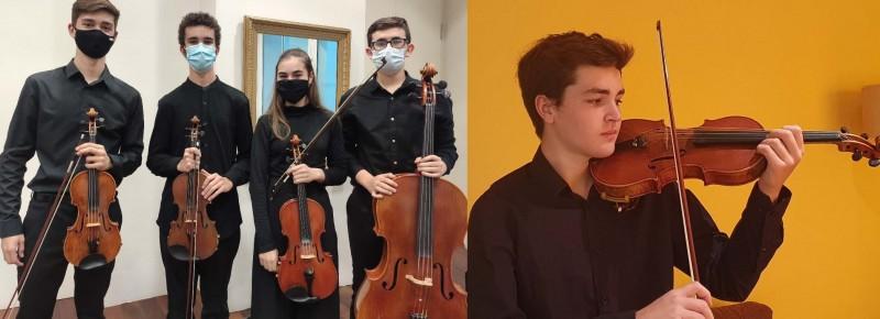 Concerts d'hivern: Josep Alborch, violí;Paula Tamarit, piano; Javier Burgos  i Ignacio Navarro, violins; Paula Sancho, viola;Sergi Tomas, violoncel
