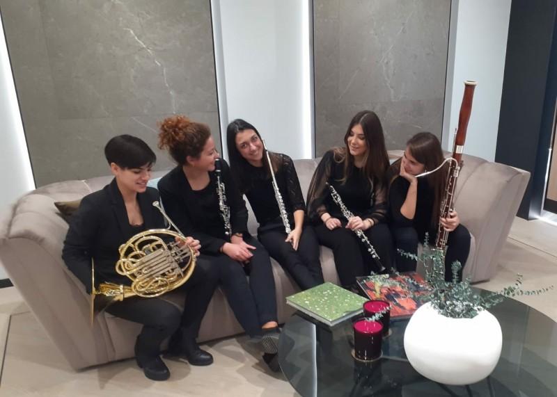 Concerts d'hivern: Mar Barberà, flauta;Carmen García, oboè; ; Rosa Bellés, fagot; Estela Domigo, clarinet; Raquel Climent, trompa